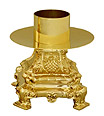 Solid Brass Squared Candlestick with Socket