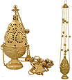 Brass Censor Hexagon with 12 Bells