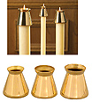 Brass Candle Wind Protectors