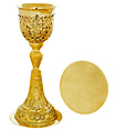 Russian Carved Chalice and Paten