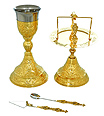 Ornate Chalice and Paten Set