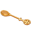 Embossed Brass Incense Spoon