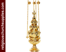 Beautiful Brass Censer with 4 Chains and 12 Bells