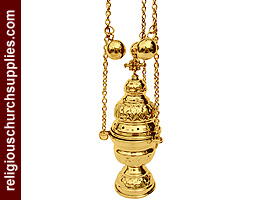 Orthodox Incense Burner with 4 Chain & 12 Bells