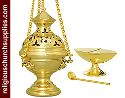 Thurible with Matching incense Boat and Spoon