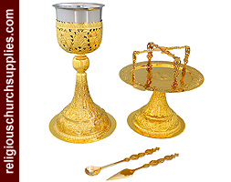 Russian Carved Chalice Set