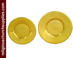 Solid Brass Well Paten with Curved Edge