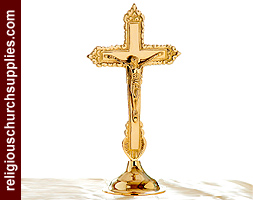 Brass Standing Crucifix
