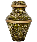 Enameled Embossed Urn