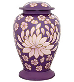 Brass Hand Painted Flower Urns